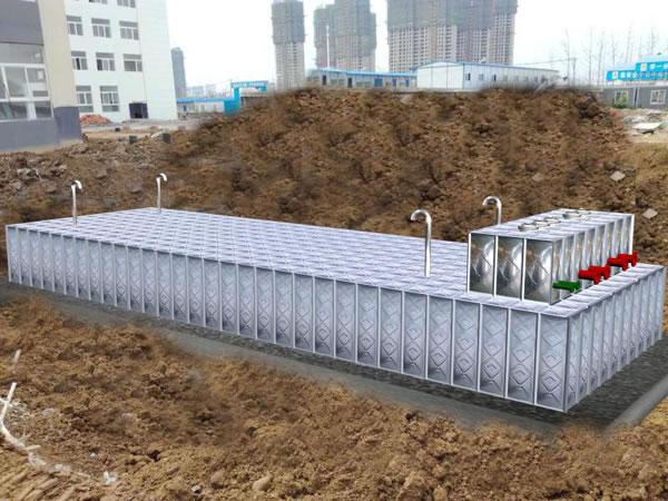 抗浮式大模块地埋箱泵一体化